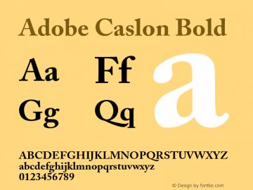 Adobe Caslon Bold 001.001 Font Sample
