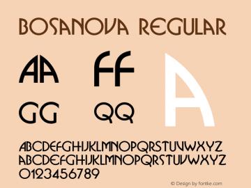 Bosanova Regular v1.0c Font Sample