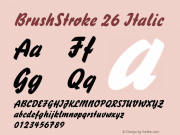 BrushStroke 26 Italic 1.0/1995: 2.0/2001图片样张
