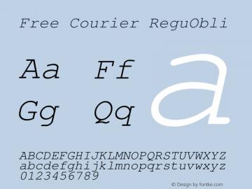 Free Courier ReguObli Version 1.06图片样张