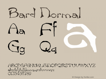 Bard Normal 1.0 Tue Nov 17 22:11:51 1992 Font Sample
