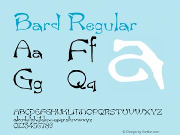 Bard Regular v1.0c Font Sample