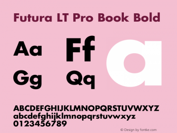 Futura LT Pro Book Font Family|Futura LT Pro Book-Sans-serif