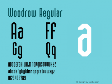Woodrow Regular Version 1.0图片样张