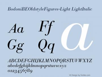 BodoniBEOldstyleFigures-Light LightItalic Version 1.00图片样张