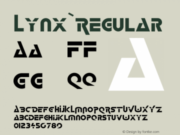 Lynx Regular 001.001 Font Sample