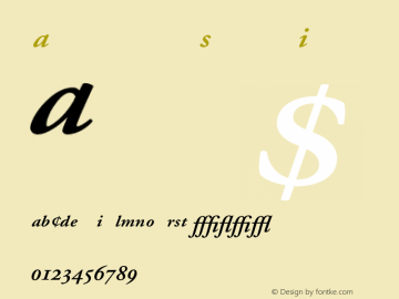 Adobe Garamond Semibold Italic 001.002 Font Sample
