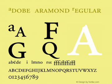 Adobe Garamond Regular 001.002 Font Sample