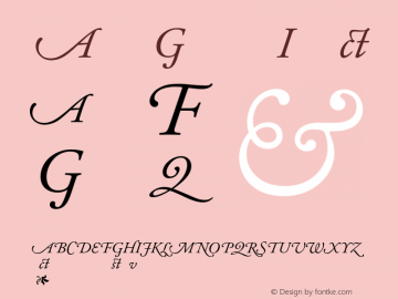 Adobe Garamond Italic 001.003 Font Sample