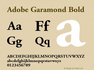 Adobe Garamond Bold 001.001 Font Sample