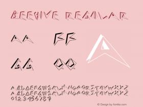 Beehive Regular 001.001 Font Sample