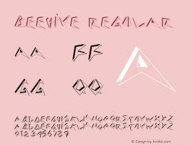 Beehive Regular v1.0c Font Sample