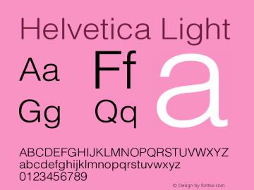 Helvetica Light Version 001.002 Font Sample