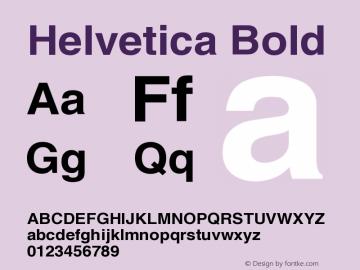 Helvetica Bold Version 001.007 Font Sample