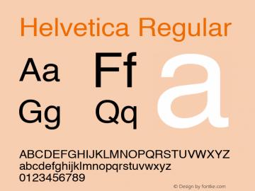 Helvetica Regular 5.0d8e2 Font Sample