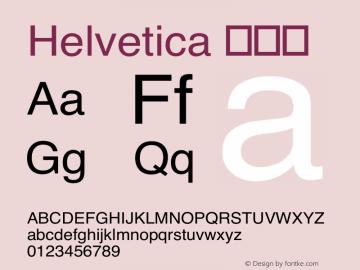 Helvetica 常规体 6.1d19e3 Font Sample