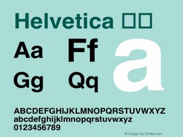 Helvetica 粗体 6.1d19e3 Font Sample