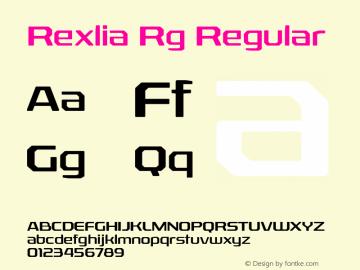 Rexlia Rg Regular Version 1.002 Font Sample