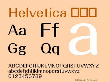 Helvetica 常规体 10.0d4e1 Font Sample