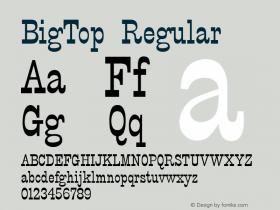 BigTop Regular 001.003 Font Sample