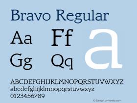 Bravo Regular Altsys Fontographer 3.5  4/15/93 Font Sample