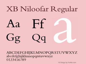 XB Niloofar Regular Version 7.201 2008 Font Sample