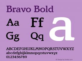 Bravo Bold Altsys Fontographer 3.5  4/15/93 Font Sample