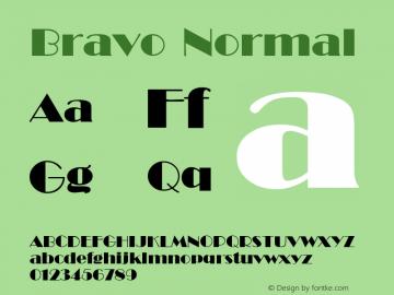 Bravo Normal 1.0 Tue Nov 17 22:32:00 1992 Font Sample