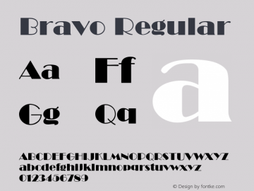 Bravo Regular v1.0c Font Sample