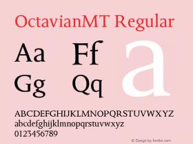 OctavianMT Regular Version 1.00 Font Sample