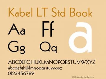 Kabel LT Std Font,Kabel LT Std Book Font,KabelLTStd-Book