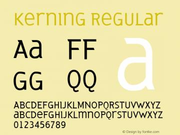 Kerning Regular Version 001.000图片样张