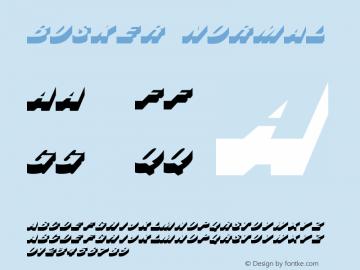 Busker Normal 1.0 Tue Nov 17 22:57:02 1992 Font Sample