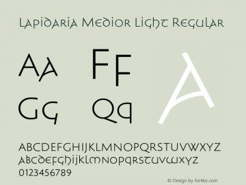 Lapidaria Medior Light Regular Version 1.000图片样张