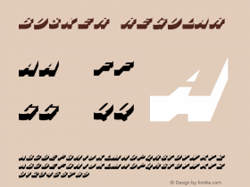 Busker Regular v1.0c Font Sample