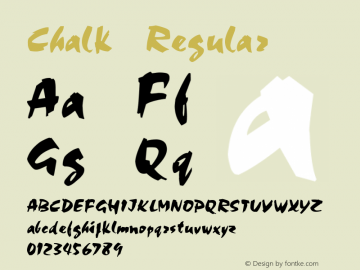 Chalk Regular v1.0c Font Sample