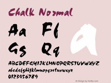 Chalk Normal 1.0 Tue Nov 17 23:52:33 1992 Font Sample
