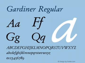 Gardiner Regular Version 3.12图片样张