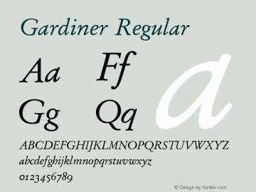Gardiner Regular Version 3.13图片样张