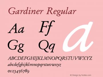 Gardiner Regular Version 4.01图片样张