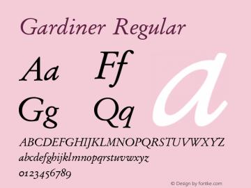 Gardiner Regular Version 5.01图片样张
