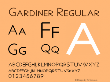 Gardiner Regular Version 5.03图片样张