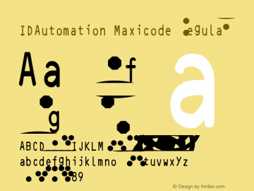 IDAutomation Maxicode Font Family|IDAutomation Maxicode-MaxiCode