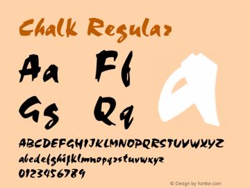 Chalk Regular 001.003 Font Sample