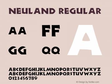 Neuland Regular Altsys Fontographer 3.5  11/25/92 Font Sample