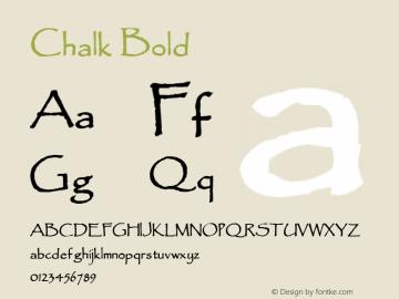 Chalk Bold 1.0/1995: 2.0/2001 Font Sample