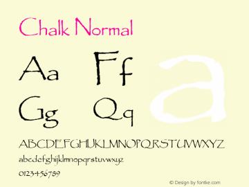 Chalk Normal 1.0/1995: 2.0/2001 Font Sample