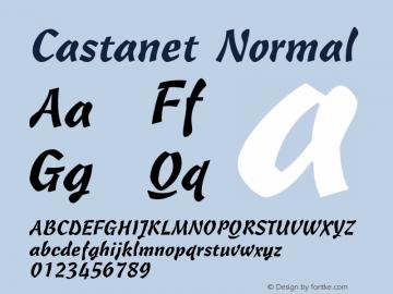 Castanet Normal 1.0 Tue Nov 17 23:39:19 1992 Font Sample