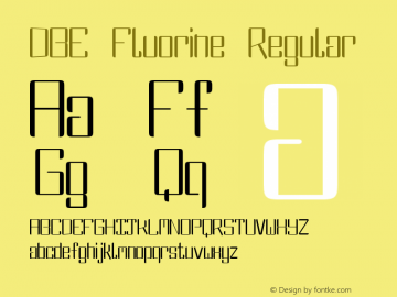DBE Fluorine Regular Version 1.000图片样张