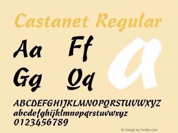 Castanet Regular 001.003 Font Sample